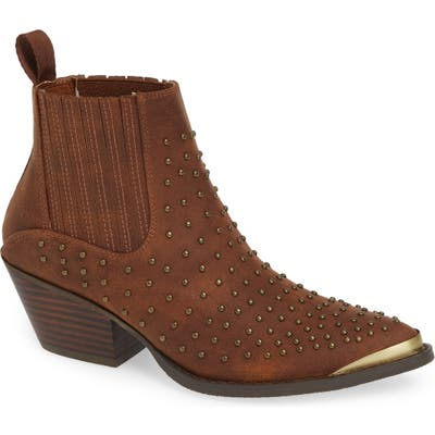 Very Volatile Alona Studded Bootie, Brown