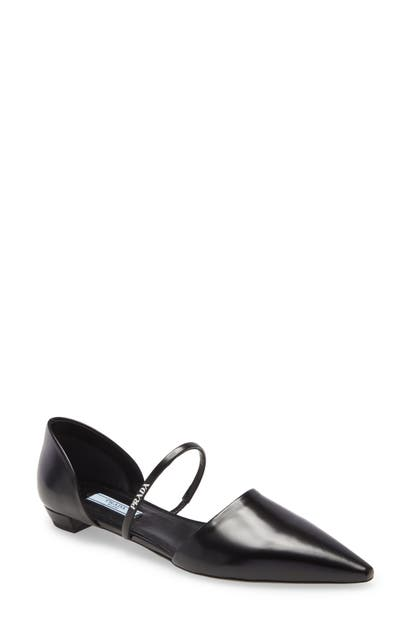 Prada Pointed toes MARY JANE STRAP POINTED TOE FLAT