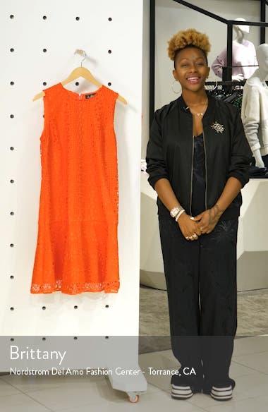 Circle Lace Drop Waist Dress, sales video thumbnail