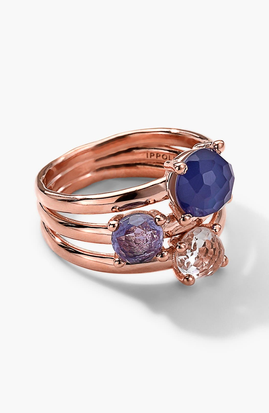 ,                             'Wonderland' Rosé Stack Ring,                             Main thumbnail 2, color,                             712
