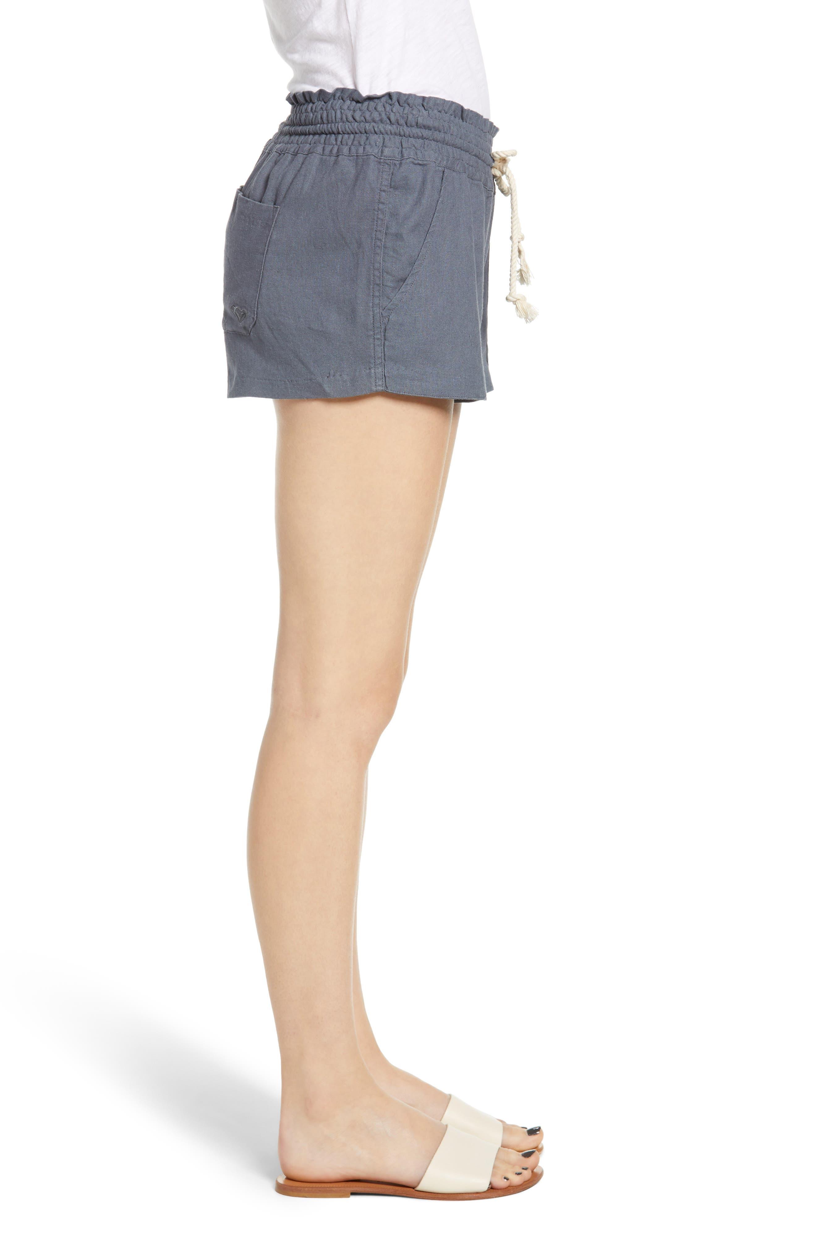 ,                             'Oceanside' Linen Blend Shorts,                             Alternate thumbnail 3, color,                             020