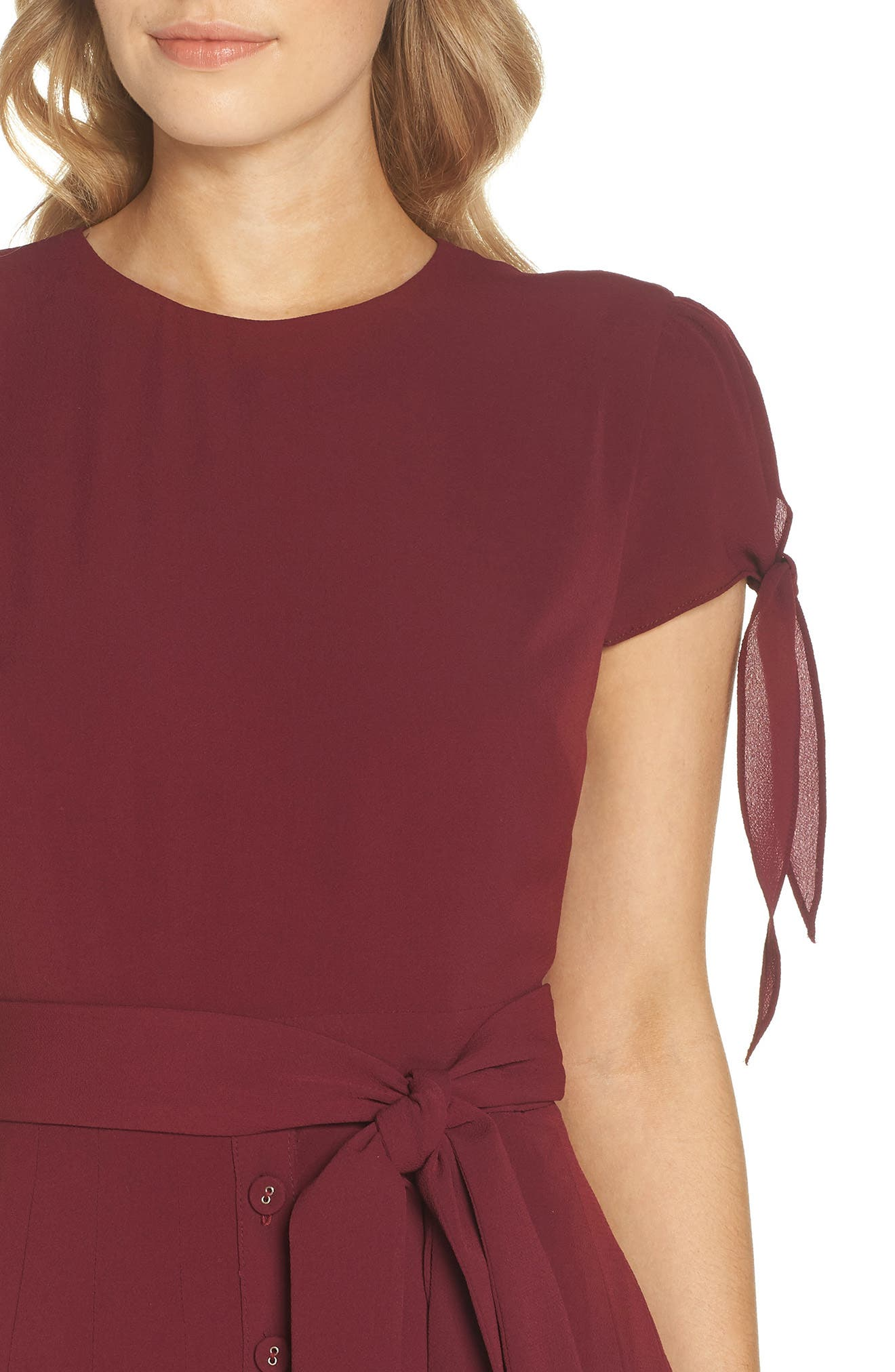 ,                             Bette Pleated Midi Dress,                             Alternate thumbnail 12, color,                             655