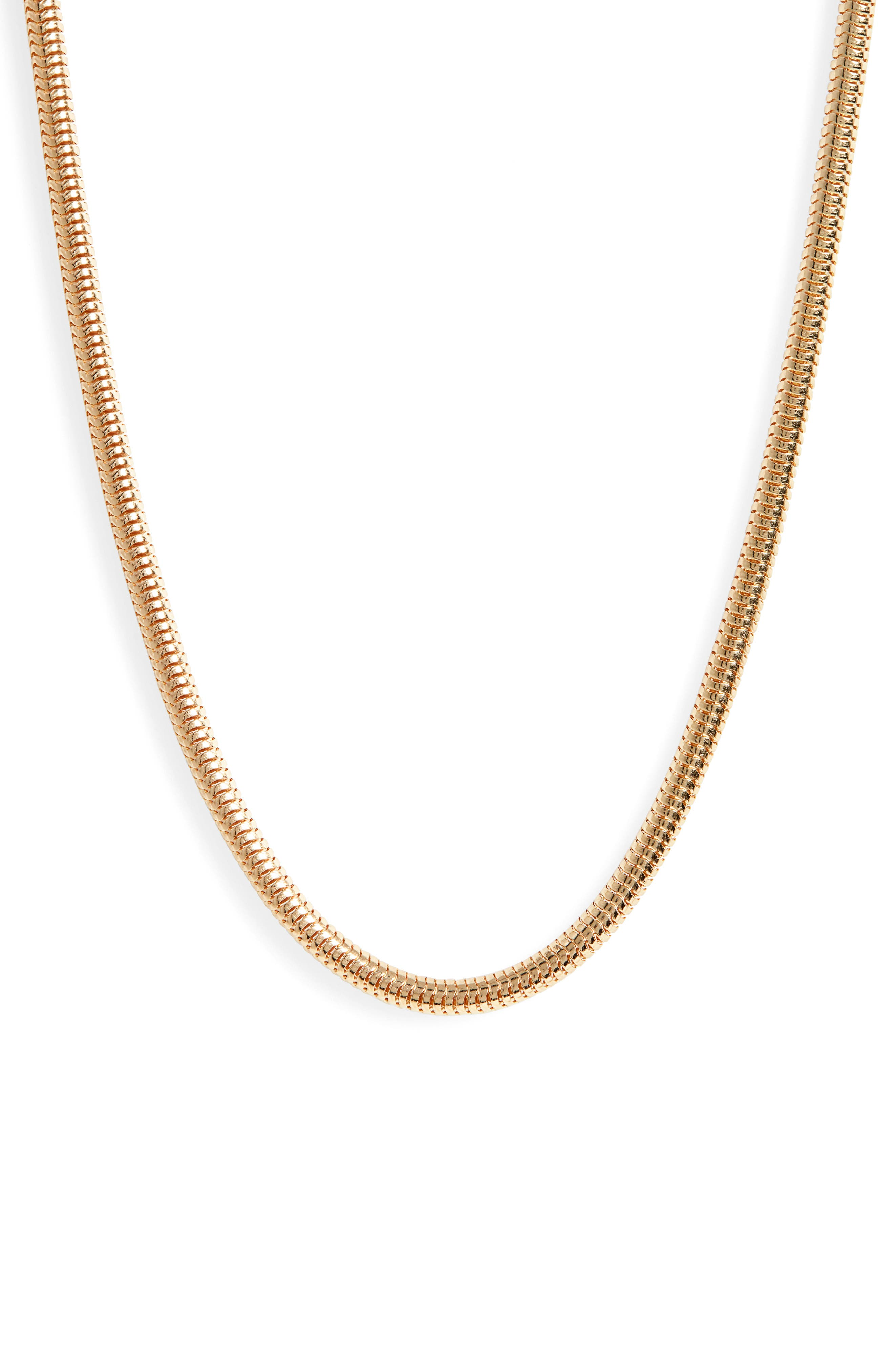 Zenith Gold Vermeil Snake Chain Necklace