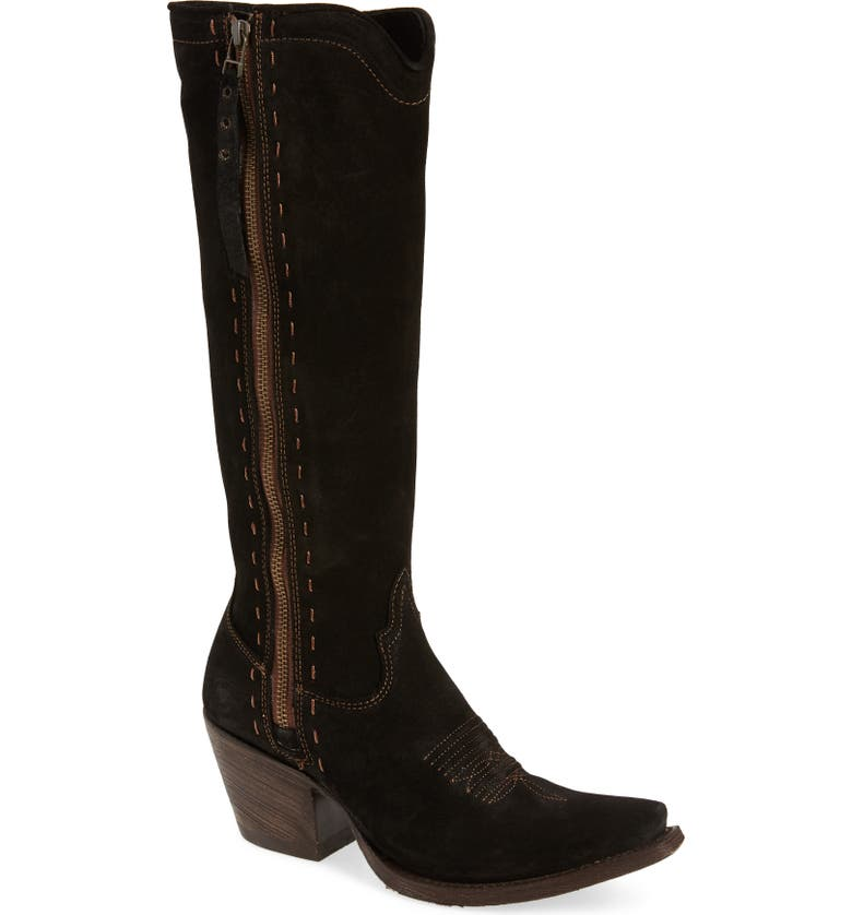 ARIAT Giselle Boot, Main, color, BLACK SUEDE