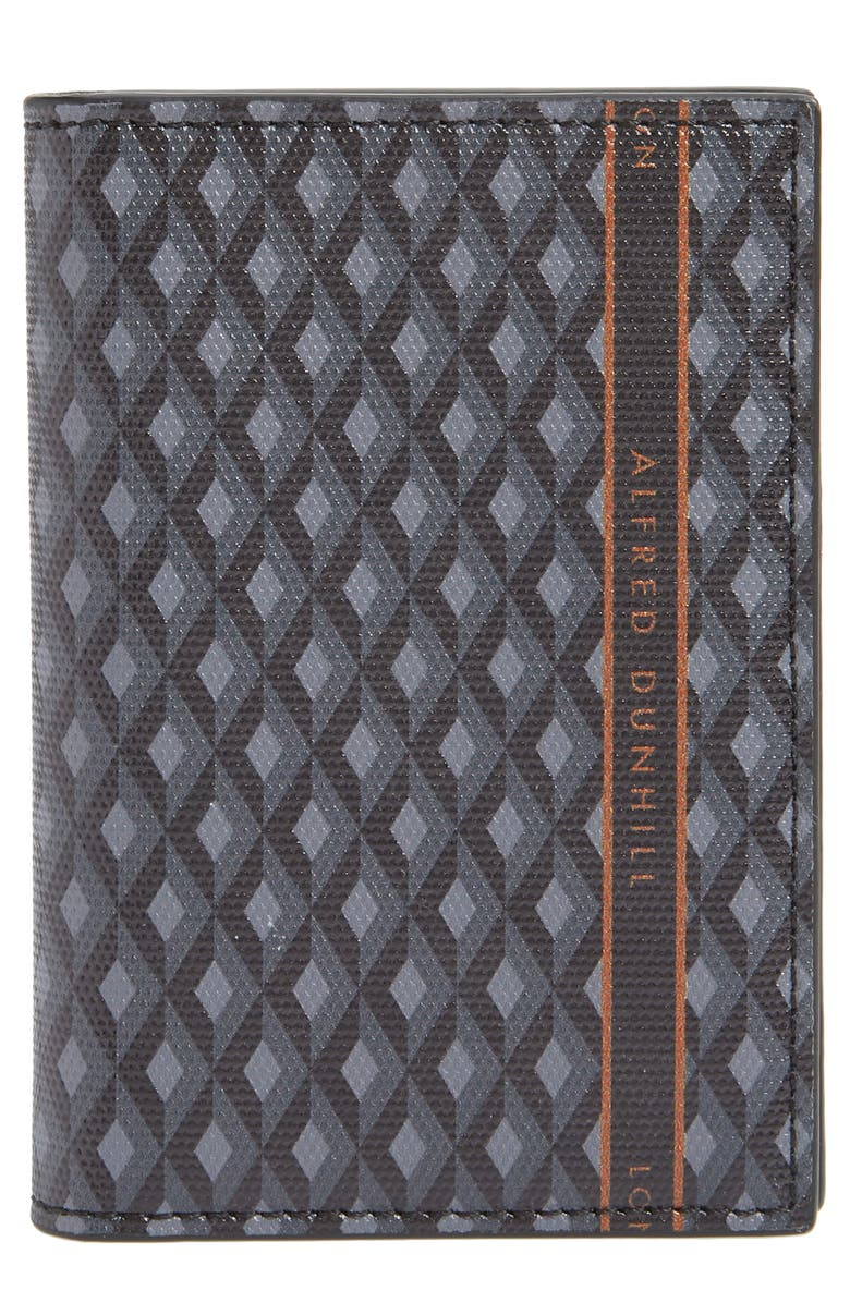 DUNHILL Luggage Canvas Business Card Case, Main, color, 030