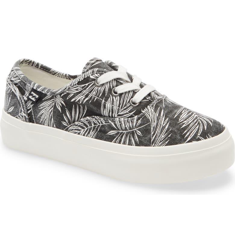 BILLABONG Coastlines Platform Sneaker, Main, color, BLACK WHITE