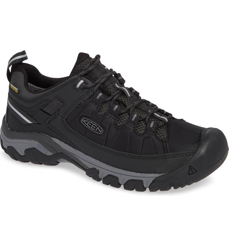 KEEN Targhee EXP Waterproof Hiking Shoe, Main, color, BLACK/ STEEL GREY