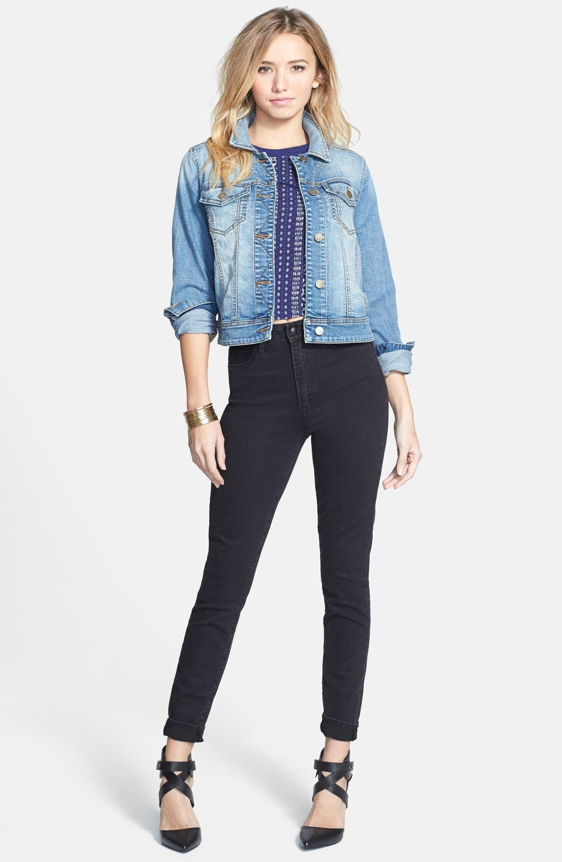 ,                             Denim Jacket,                             Alternate thumbnail 2, color,                             401