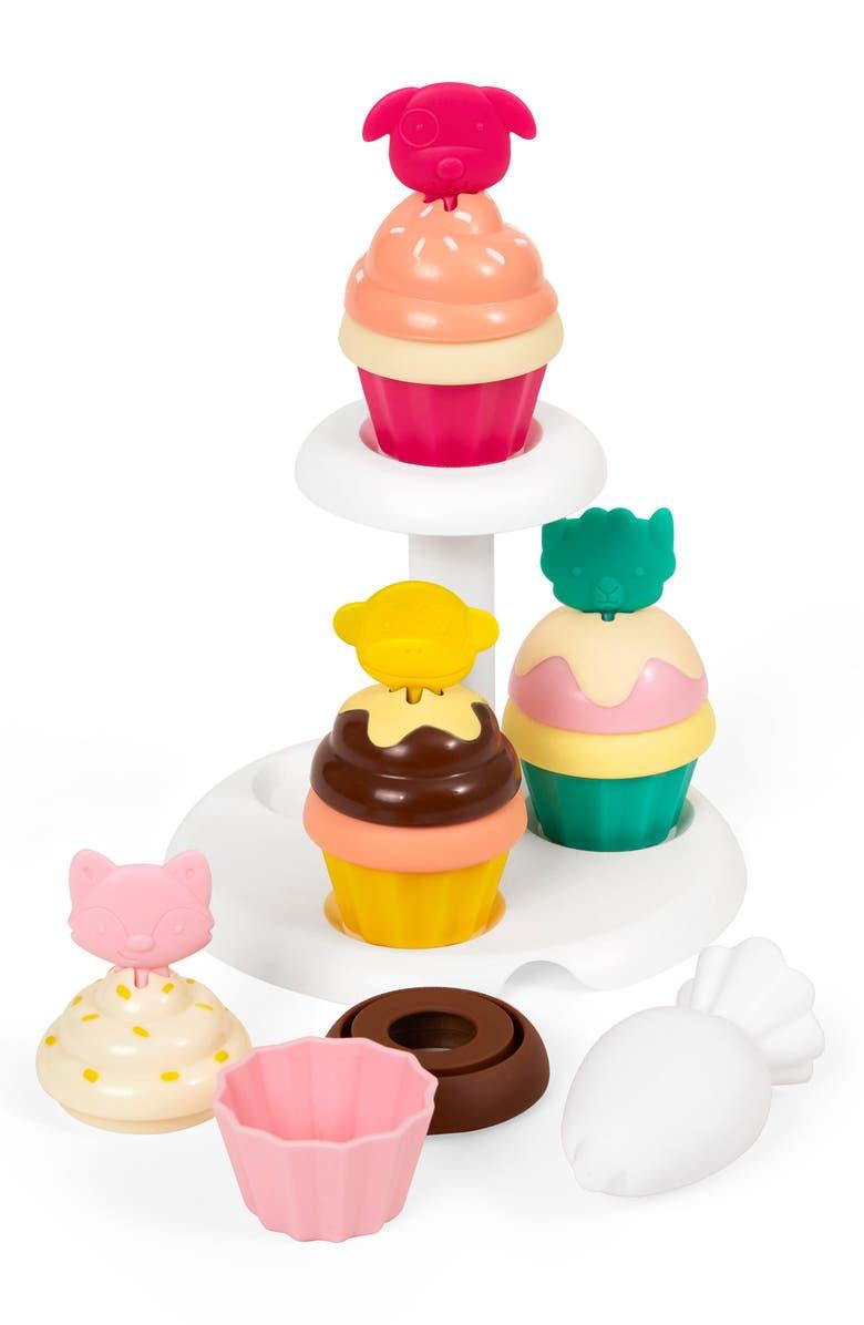 SKIP HOP Zoo Sort & Stack Cupcake Game, Main, color, MULTI