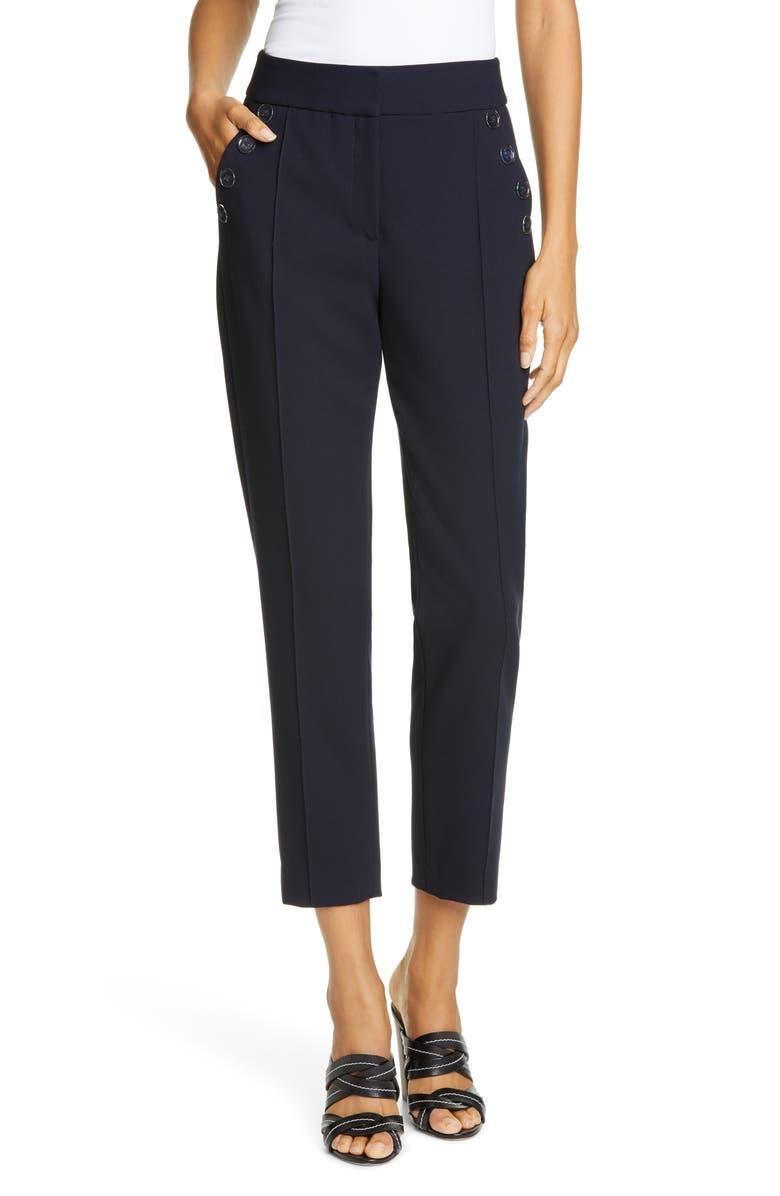 VERONICA BEARD Friedman Crop Skinny Pants, Main, color, NAVY