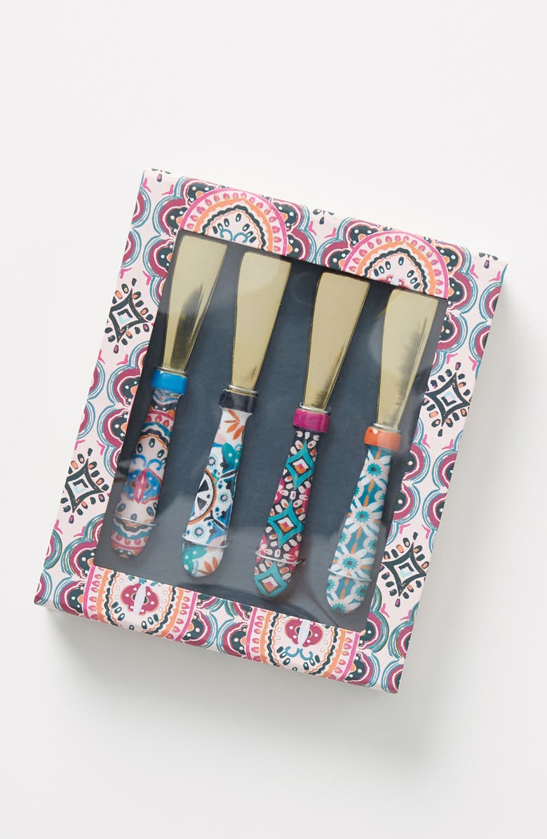 ANTHROPOLOGIE Paola Set of 4 Spreaders, Main, color, MULTI