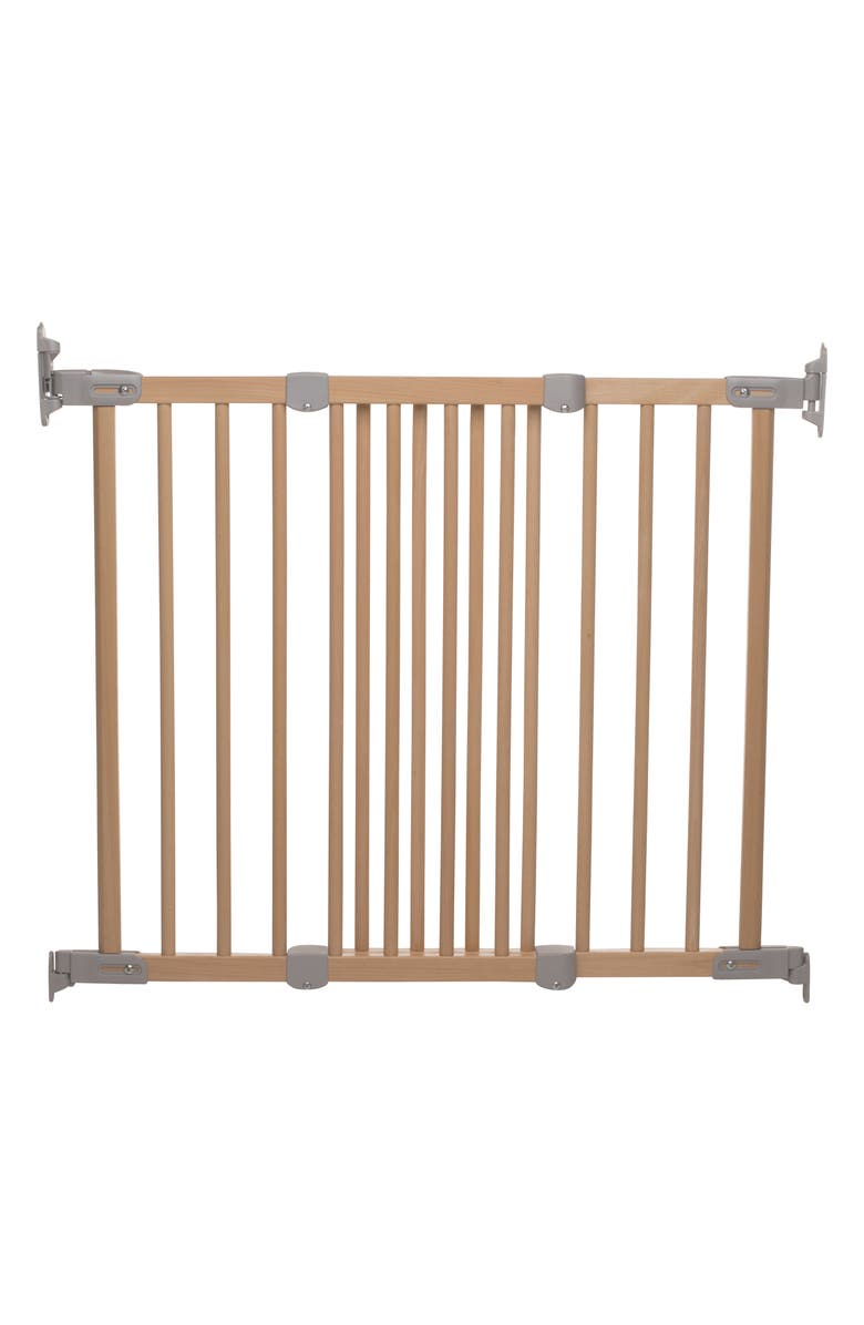 BABYDAN Flexi Fit Extending Hard Mount Safety Gate, Main, color, BEECHWOOD