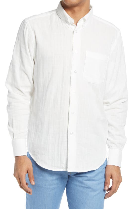 Naked And Famous Denims SLIM FIT DOUBLE WEAVE BUTTON-DOWN SHIRT