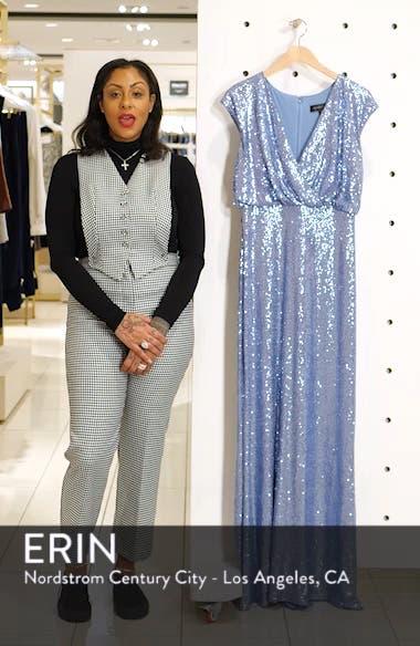 Sequin Blouson Gown, sales video thumbnail