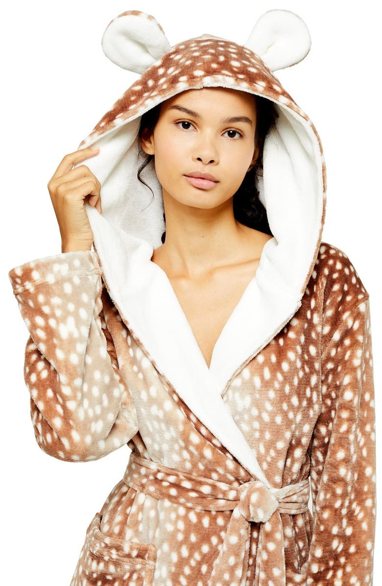 Bambi Plush Robe by Topshop