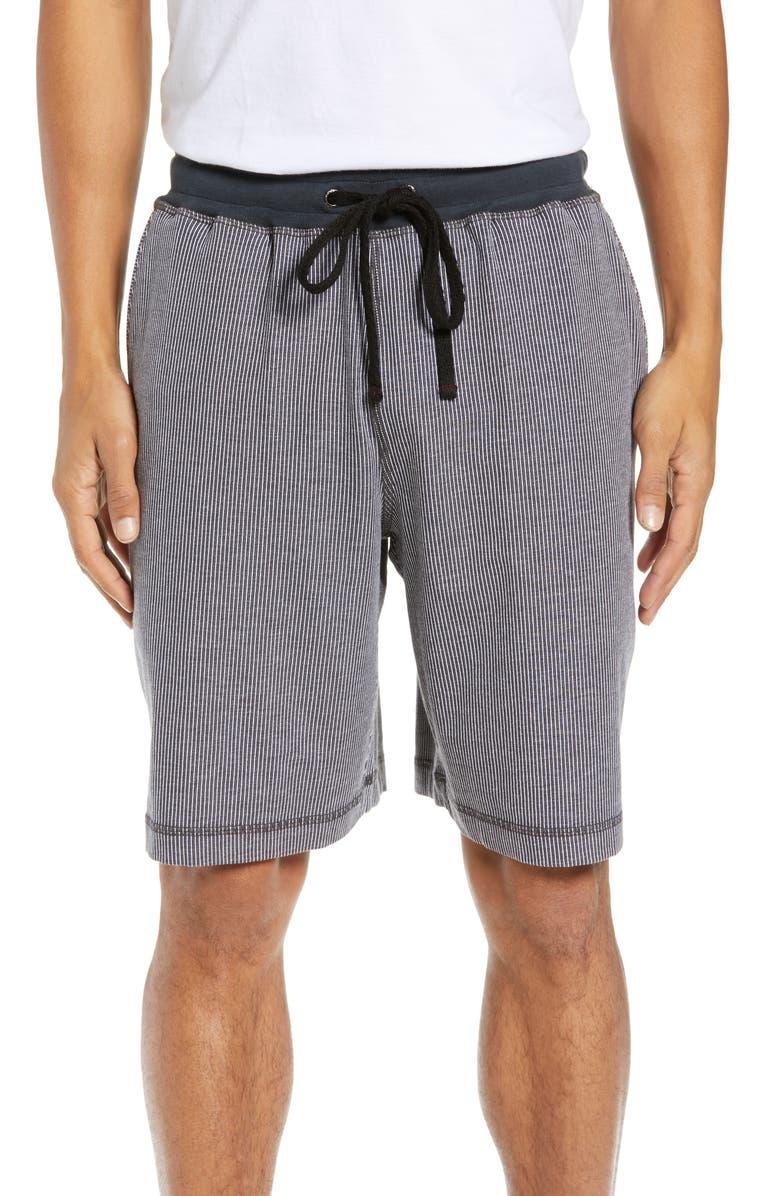 DANIEL BUCHLER Pinstripe Shorts, Main, color, CHARCOAL