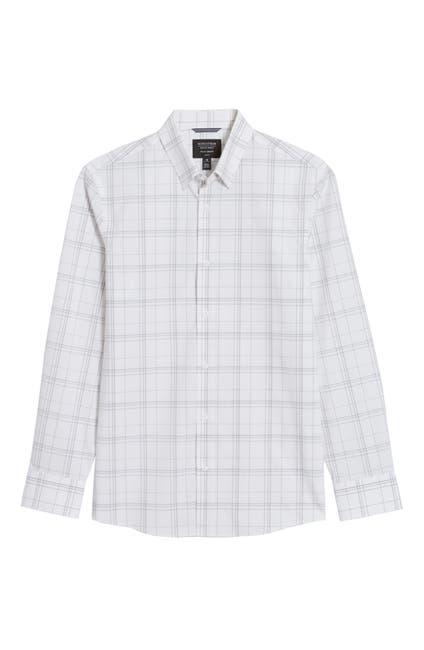 Image of NORDSTROM MEN'S SHOP Tech-Smart CoolMax® Plaid Performance Button-Up Shirt