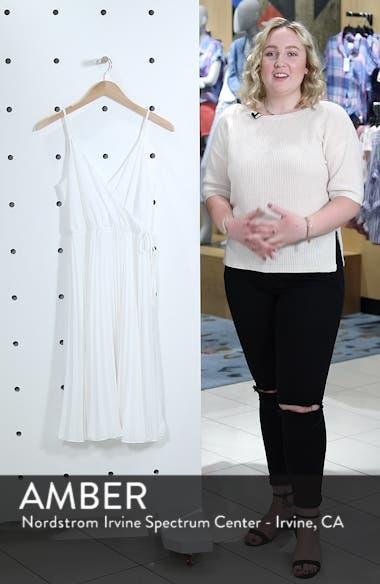 Lily Pond Faux Wrap Pleated Midi Dress, sales video thumbnail