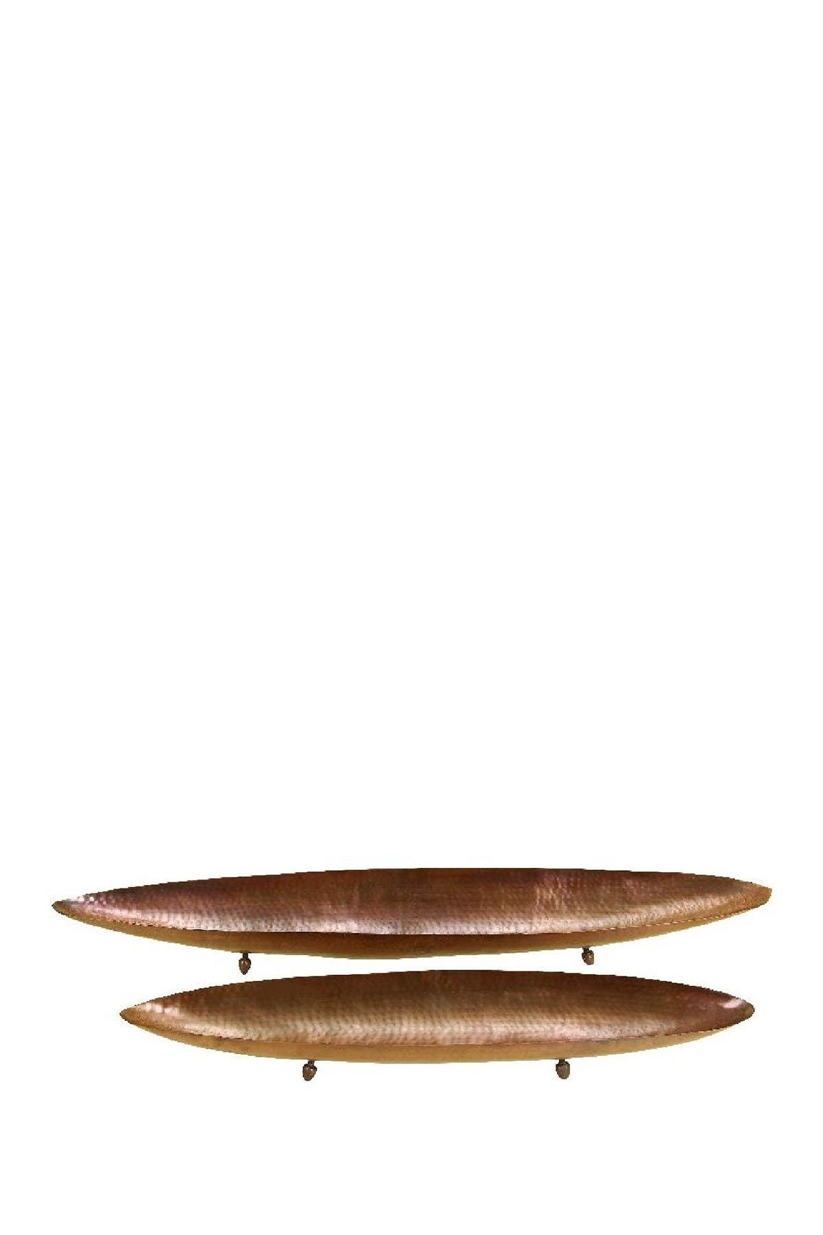 Image of Willow Row Canoe Metal Trays - Set of 2