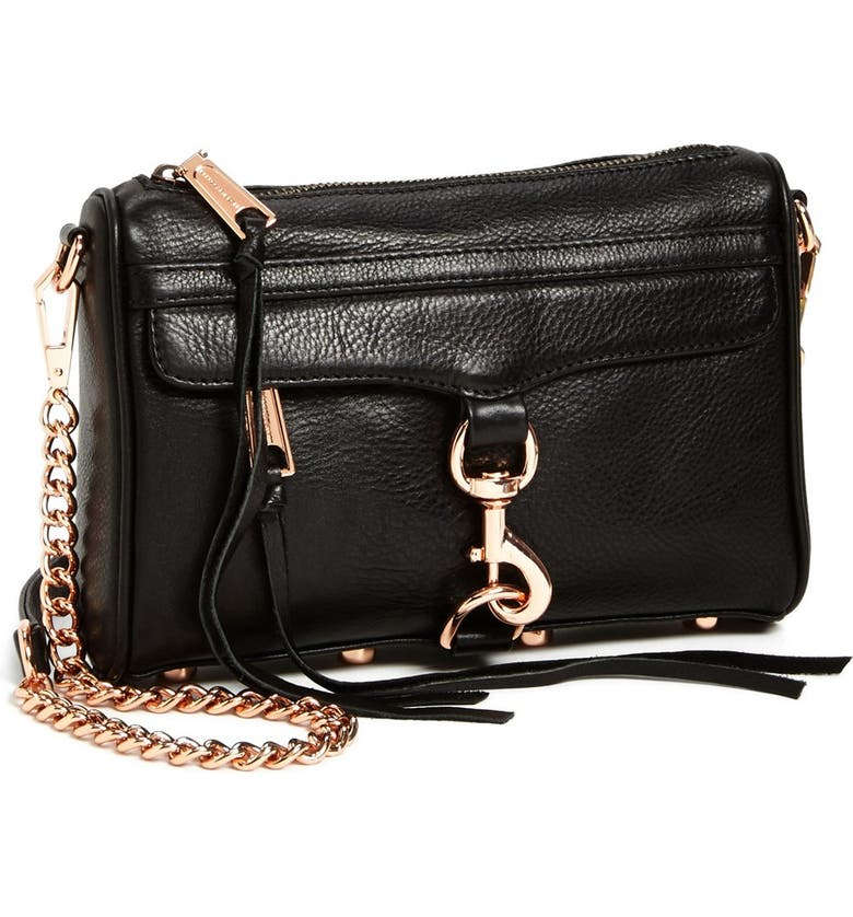 REBECCA MINKOFF 'Mini MAC' Convertible Crossbody Bag, Main, color, 001