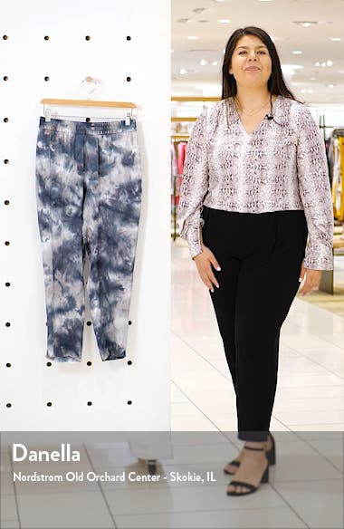 Tie Dye Silk Charmeuse Crop Pants, sales video thumbnail