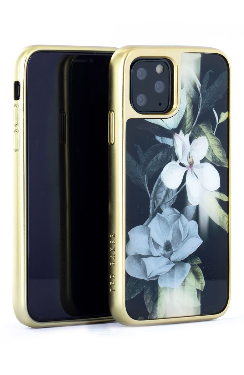 TED BAKER LONDON Opal Glass iPhone 11 Pro Max Case, Main, color, BLACK