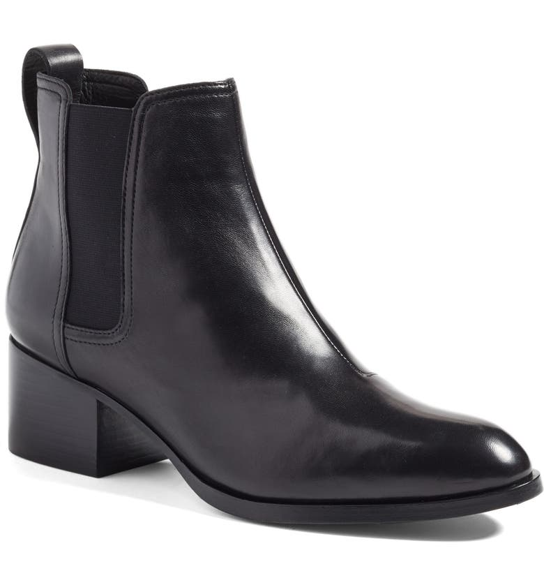 RAG & BONE 'Walker' Bootie, Main, color, BLACK LEATHER