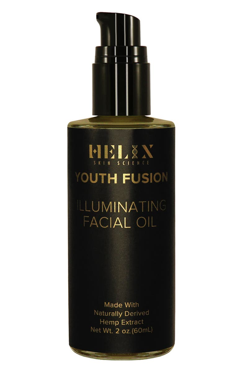 HELIX SKIN SCIENCE Youth Fusion Illuminating Facial Oil with CBD, Main, color, NO COLOR