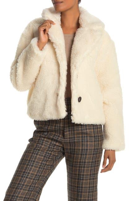 Image of AVEC LES FILLES Cropped Faux Fur Jacket