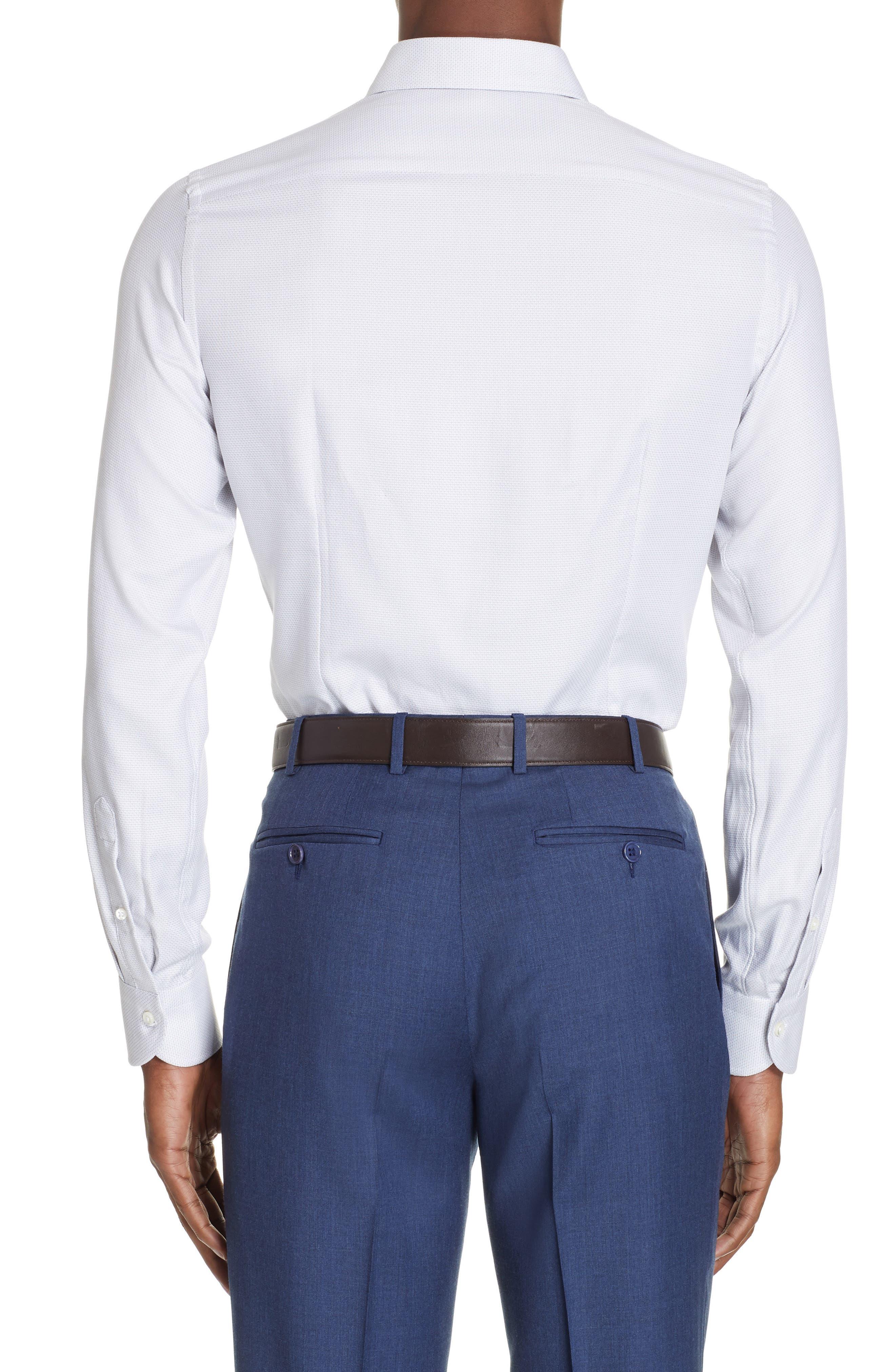 ,                             Regular Fit Solid Dress Shirt,                             Alternate thumbnail 3, color,                             SILVER