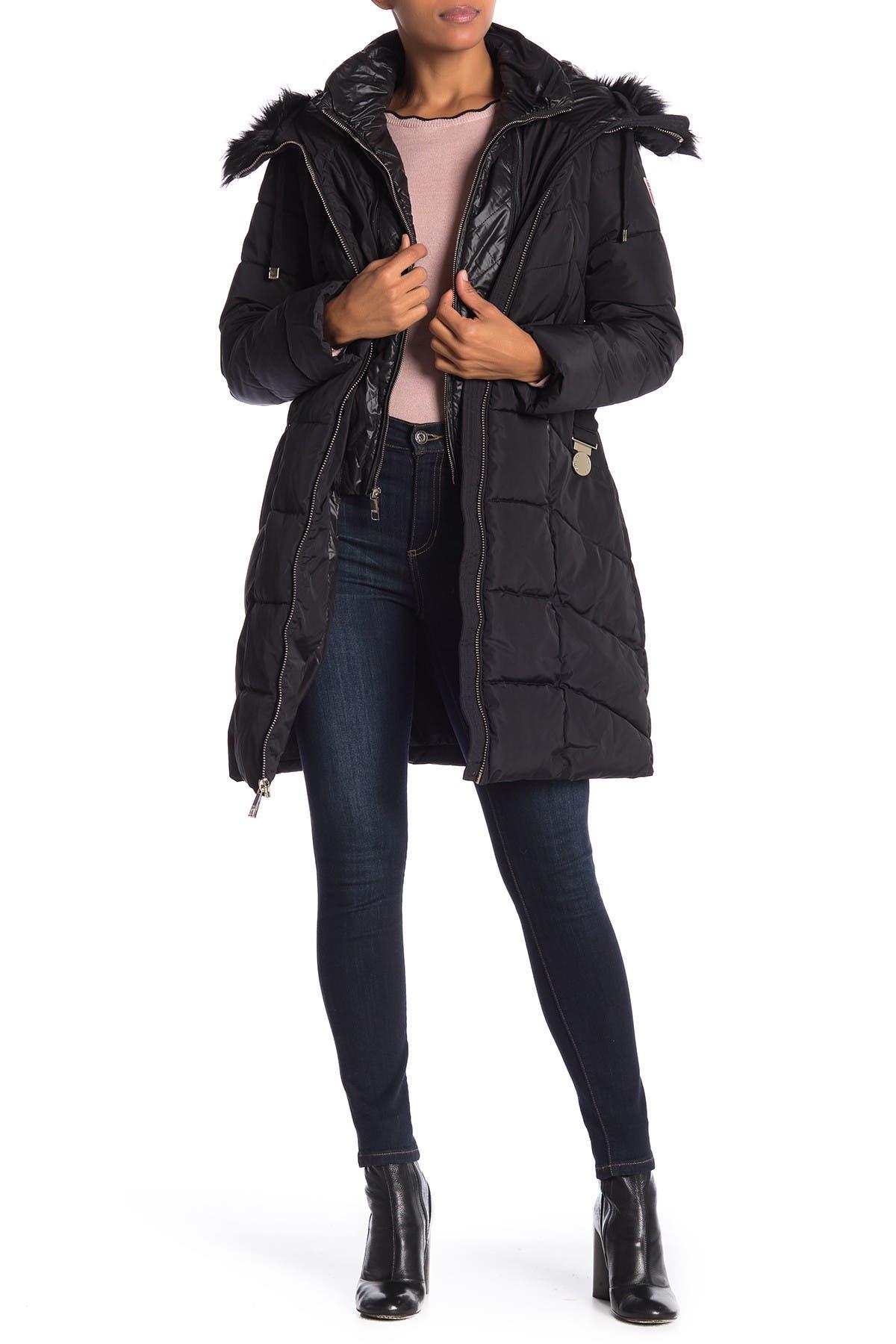 Guess Faux Fur Trim Jacket Nordstrom Rack