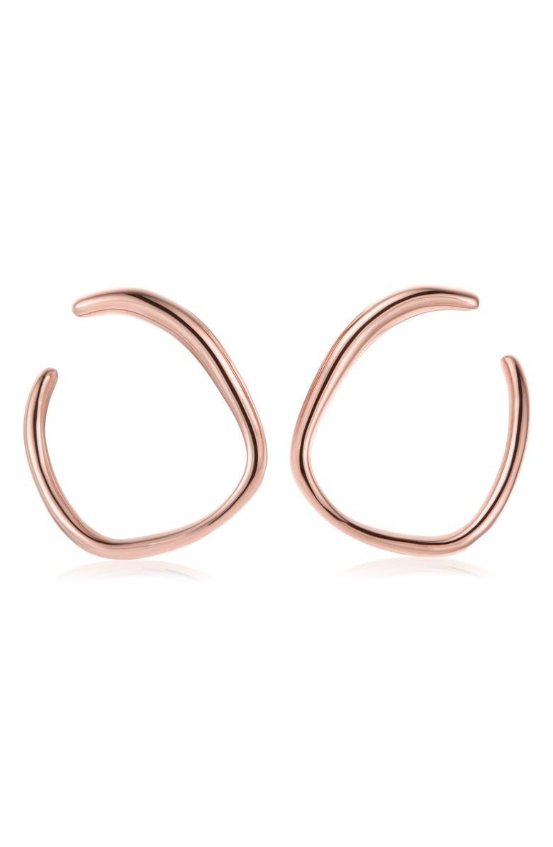 MONICA VINADER Nura Reef Wrap Hoop Earrings, Main, color, ROSE GOLD