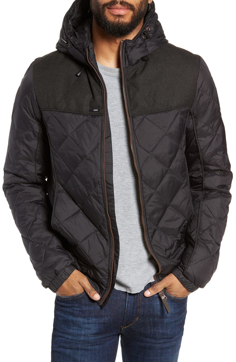 NOBIS Packable Quilted Down Jacket, Main, color, BLACK
