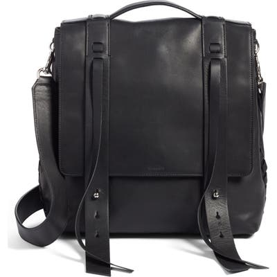 Allsaints Fin Leather Backpack -