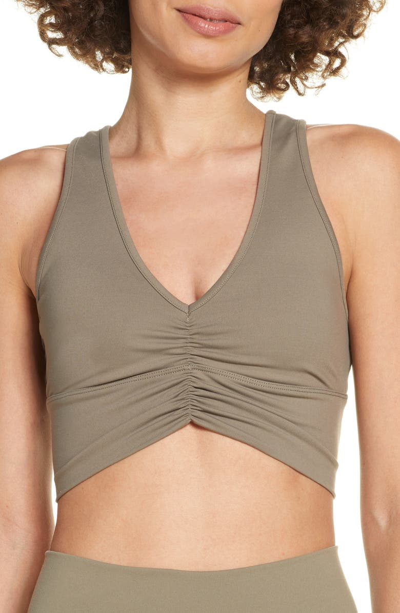 ALO Wild Thing Bra, Main, color, OLIVE BRANCH