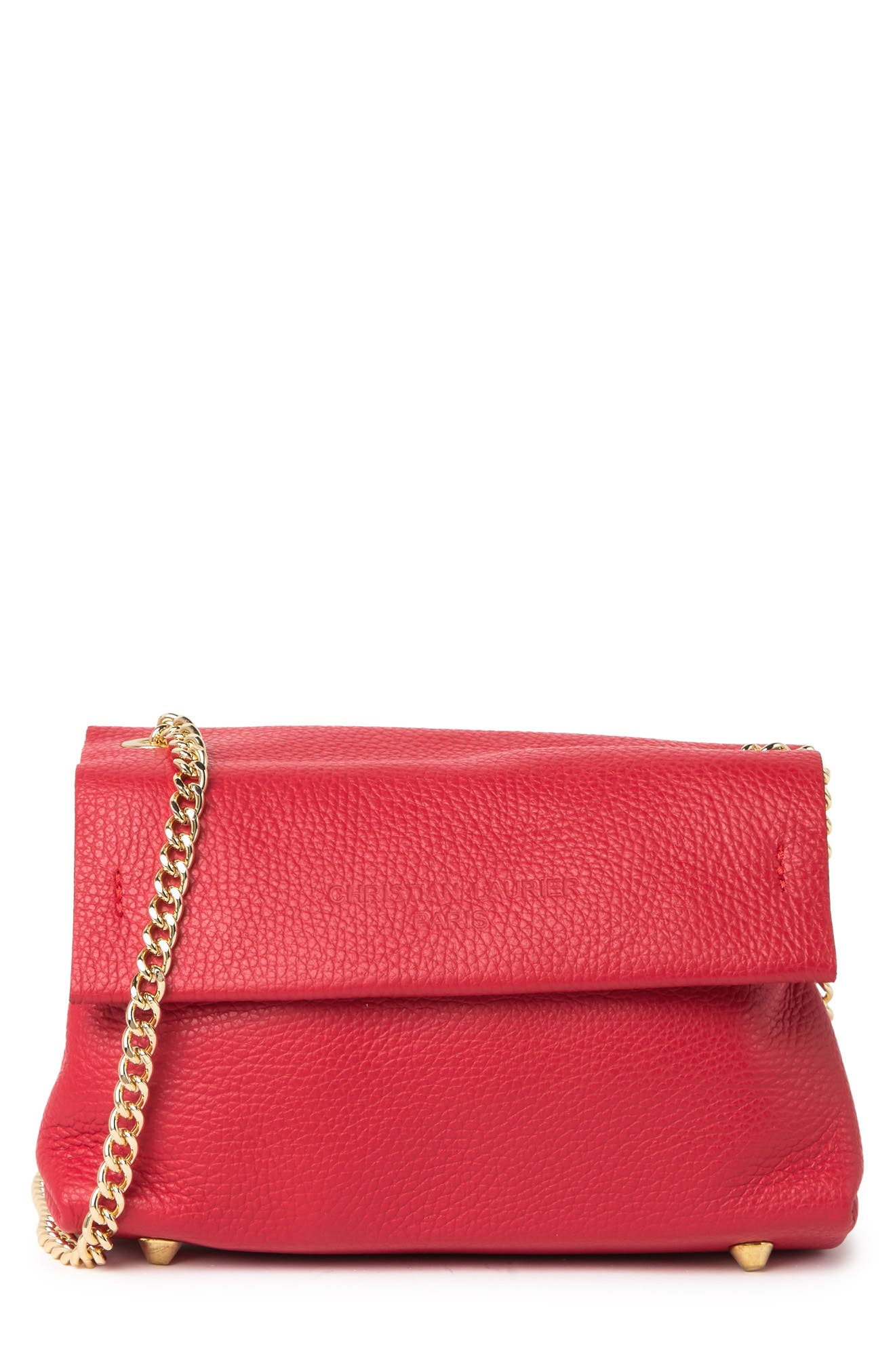 Image of CHRISTIAN LAURIER Gina Leather Clutch