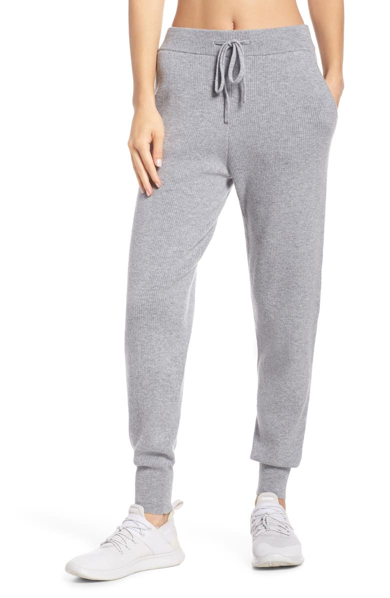 ZELLA Wool & Cashmere Jogger Pants, Main, color, 020