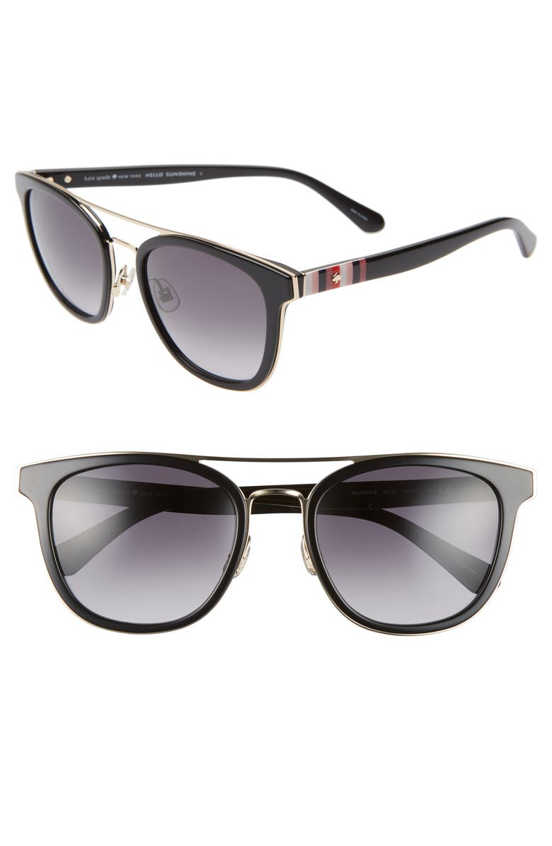 KATE SPADE NEW YORK jalicia 54mm special fit sunglasses, Main, color, 001