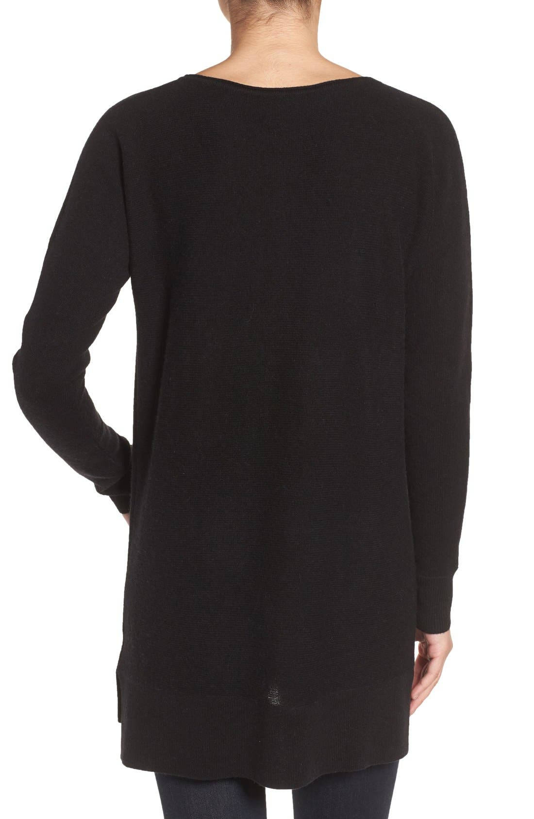 ,                             High/Low Wool & Cashmere Tunic Sweater,                             Alternate thumbnail 62, color,                             001