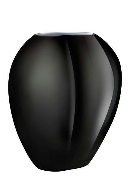 Image of Nude Glass Satin Vase - Large - Black