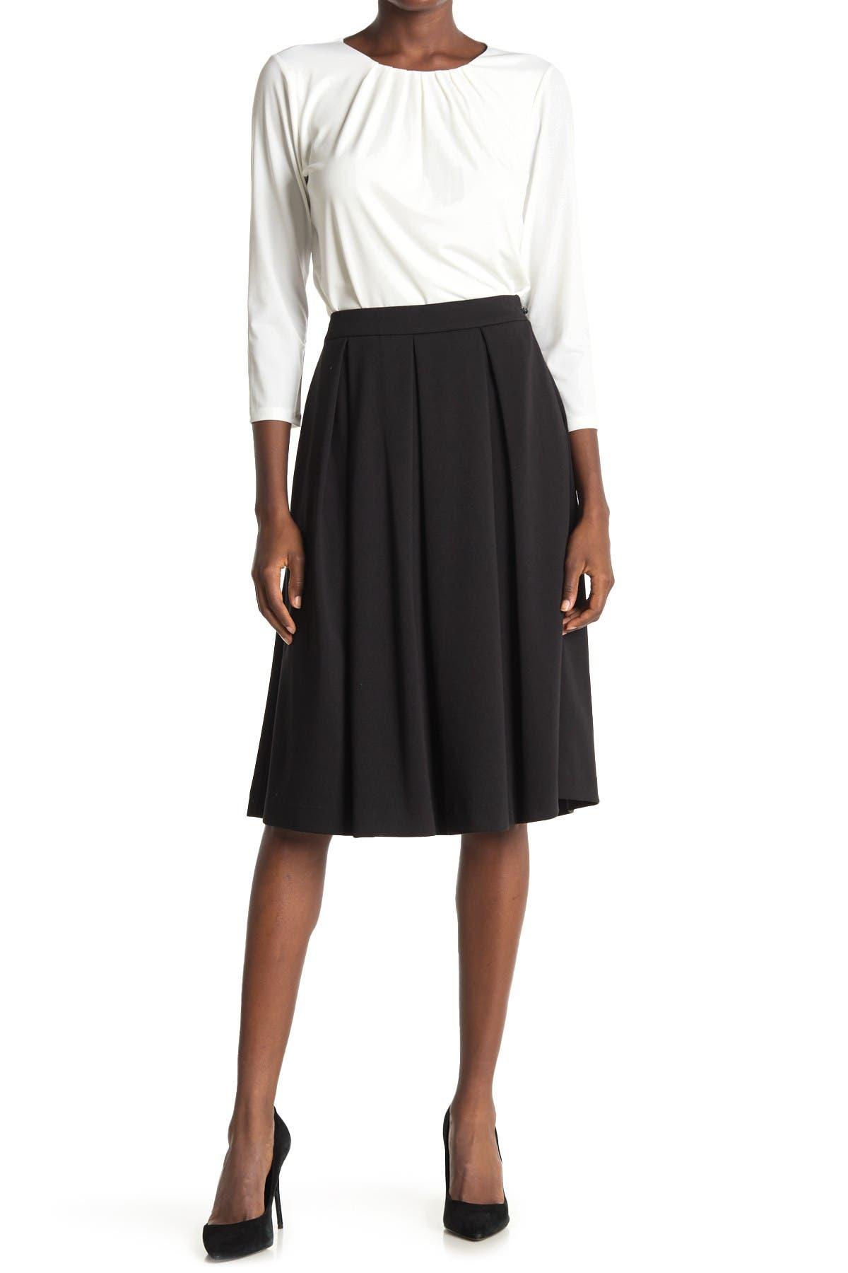 Image of Calvin Klein Midi Pleated Skirt