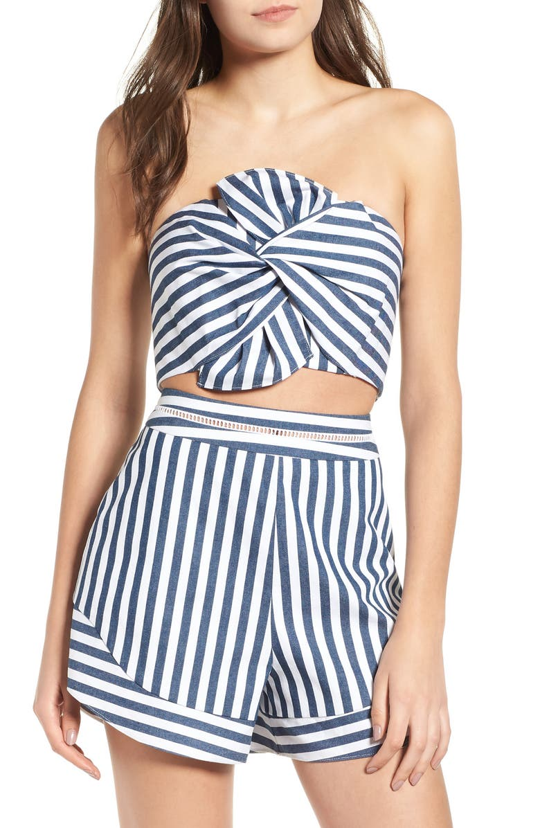 WAYF Durham Knotted Bow Tube Top, Main, color, 400