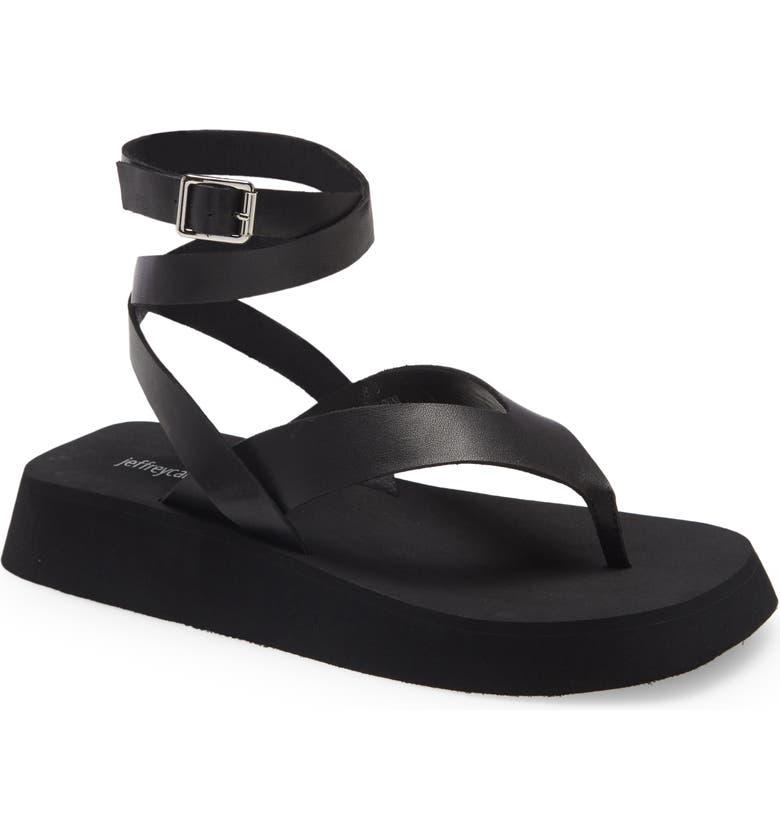 JEFFREY CAMPBELL Upside Sandal, Main, color, BLACK BOX