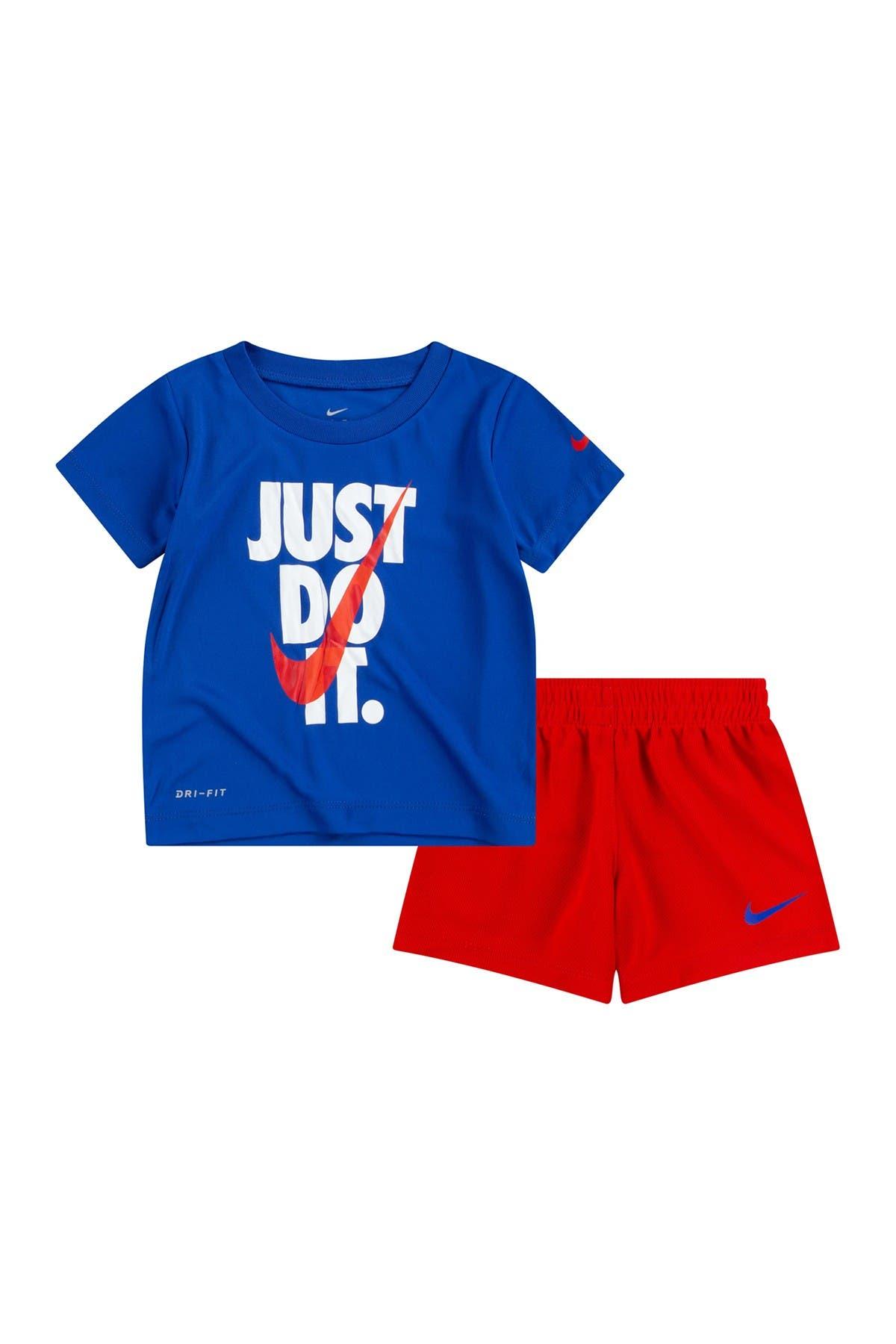 Image of Nike Just Do It T-Shirt & Shorts Set