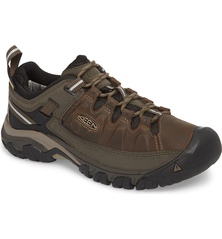 KEEN Targhee III Waterproof Hiking Shoe, Main, color, BUNGEE CORD/BLACK