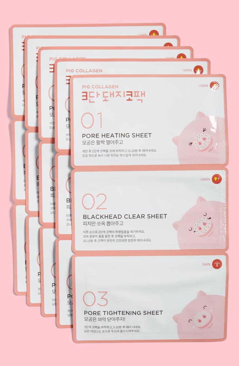 ME FACTORY Pig Collagen 3 Step Nose Pack, Main, color, 650
