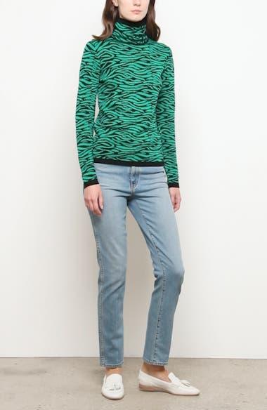 Tiger Stripe Turtleneck Wool Sweater, video thumbnail
