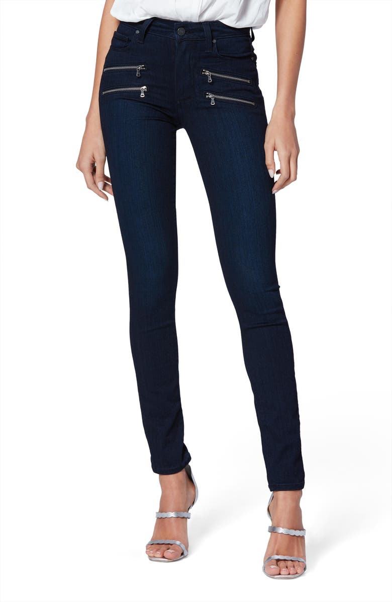 PAIGE Transcend - Edgemont High Waist Ultra Skinny Jeans, Main, color, CINEMA NO WHISKERS