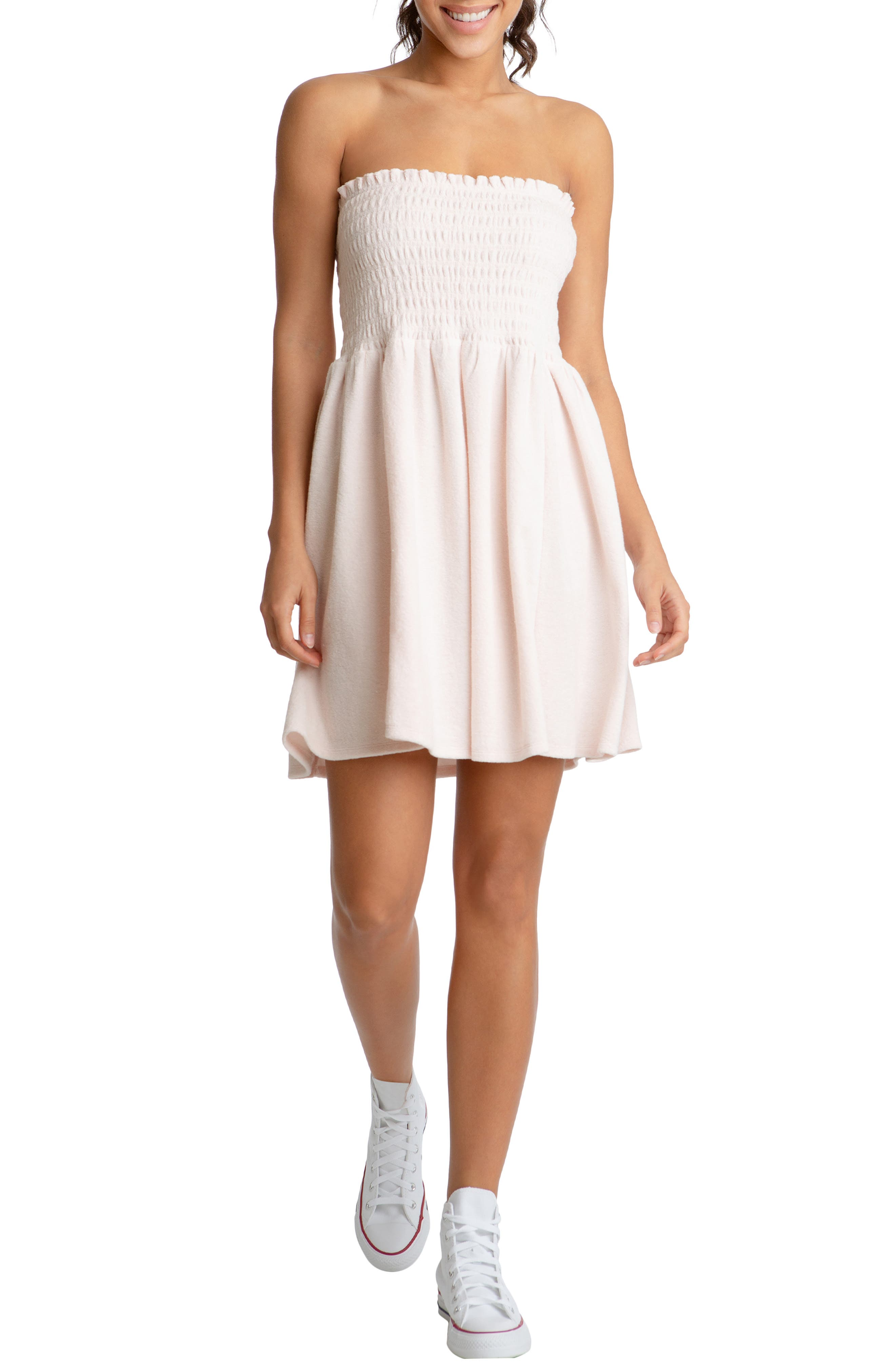 Heritage Strapless Terry Cloth Dress