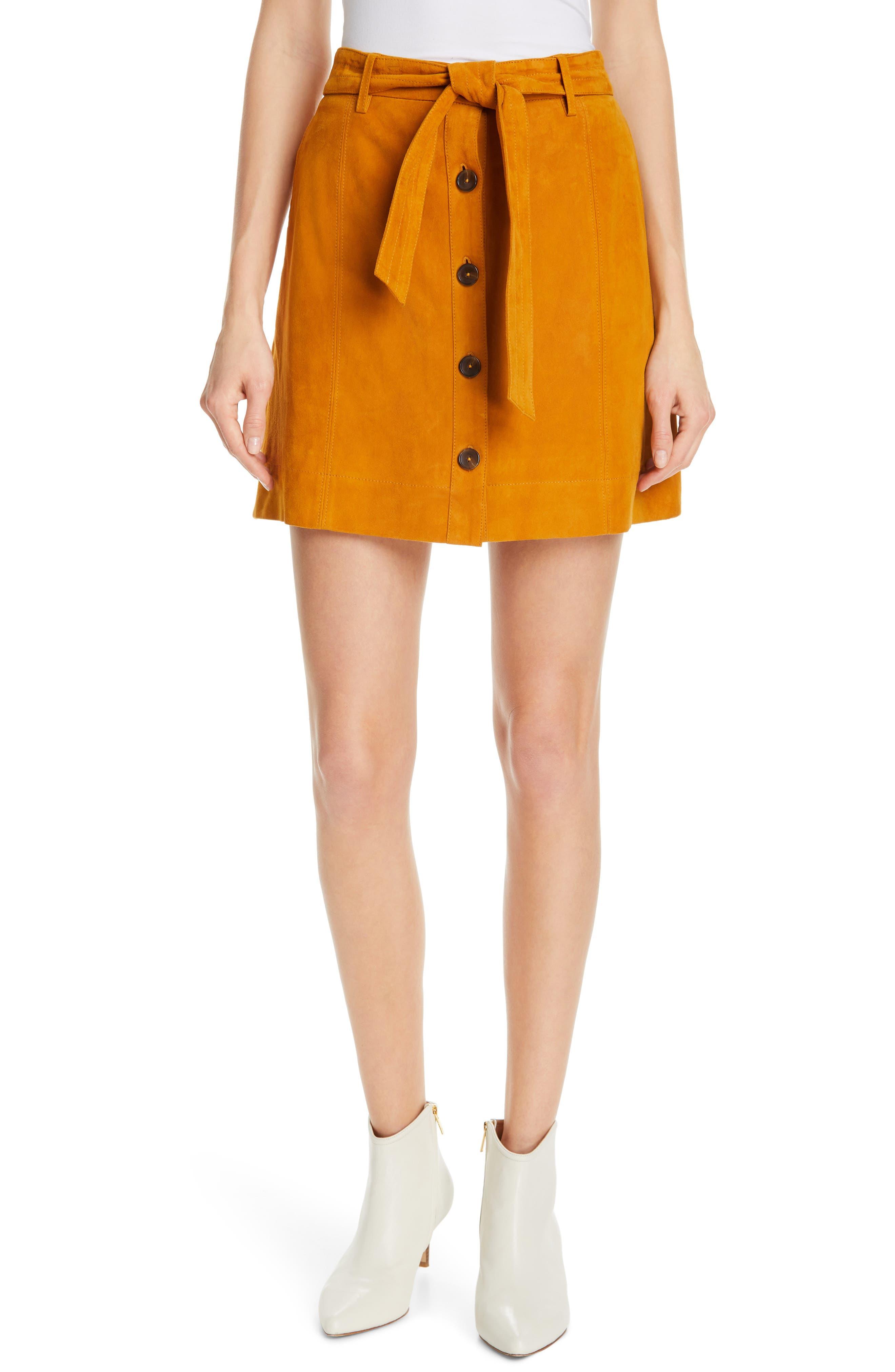 ,                             Neida Suede Miniskirt,                             Main thumbnail 7, color,                             800